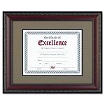 "World Class Document Frame with Certificate Walnut 11 x 14"" (DAXN3245S2T)"
