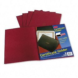 "Certificate Holder 12-12"" x 9-34"" Burgundy Pack of 5 (ESS29900585BGD)"