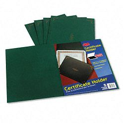 "Certificate Holder 12-12"" x 9-34"" Green Pack of 5 (ESS29900605BGD)"