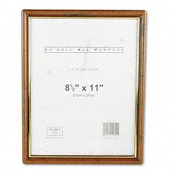 "EZ Mount Document Frame Plastic 8-12"" x 11"" Walnut (NUD11890)"