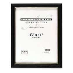 "Deluxe Document Frame Plastic 8-12"" x 11"" Black (NUD17081)"