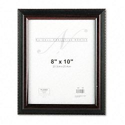 "Executive Document Frame Plastic 8"" x 10"" BlackMahogany (NUD17401)"