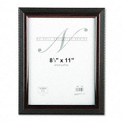 "Executive Document Frame Plastic 8-12"" x 11"" BlackMahogany (NUD17402)"