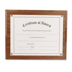 "Award-A-Plaque Document Holder AcrylicPlastic 10-12"" x 13"" Oak (NUD18812M)"