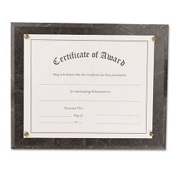 "Award-A-Plaque Document Holder AcrylicPlastic 10-12"" x 13"" Black (NUD18815M)"