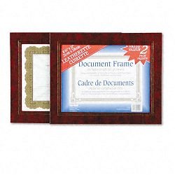 "Leatherette Document Frame 8-12"" x 11"" Burgundy Pack of Two (NUD21200)"