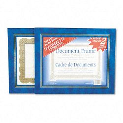 "Leatherette Document Frame 8-12"" x 11"" Blue Pack of Two (NUD21201)"