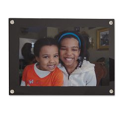 "Acrylic Easel Back Magnetic Frame for 4"" x 6"" Insert Black (UNV76855)"