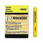 Lumber Crayon Permanent Yellow Pack of 12 (DIX49600)