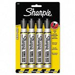 King Size Permanent Markers Black Pack of 4 (SAN15661PP)