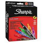 Flip Chart Markers Bullet Tip Eight Colors Set of 8 (SAN22478)