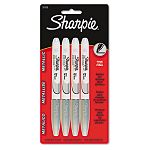 Metallic Permanent Marker Fine Point Metallic Silver Pack of 4 (SAN39109PP)