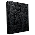 "PROformance Crocodile Embossed Ring Binder 1"" Capacity Black (AUA80012)"