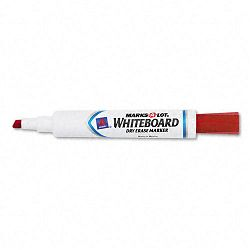 Desk Style Dry Erase Marker Chisel Tip Red Pack of 12 (AVE24407)