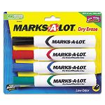 Desk Style Dry Erase Markers Chisel Tip Assorted Set of 4 (AVE24409)