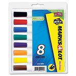 Desk Style Dry Erase Markers Chisel Tip Assorted Set of 8 (AVE24411)