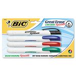 Retractable Low Odor Dry Erase Marker Chisel Tip Assorted 4 per Pack (BICDERP41ASST)