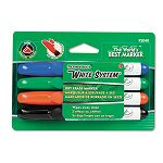 White System Dry Erase Marker Chisel Tip Assorted Colors Set of 4 (DIX92040)