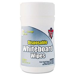 Disposable White Board Wipes 6 x 6.5 White 80 per Canister (FALDWBT)