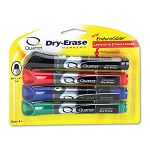 EnduraGlide Dry Erase Markers Bullet Tip Assorted Colors Set of 4 (QRT50011M)