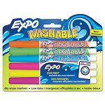 Washable Dry Erase Marker Fine Point Assorted 6 per Pack (SAN1761203)