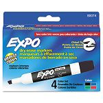 Low Odor Dry Erase Markers Chisel Tip Basic Assorted Set of 4 (SAN80074)