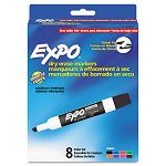 Low Odor Dry Erase Markers Chisel Tip Assorted Set of 8 (SAN80078)
