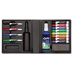 Dry Erase MarkerEraserCleaner ChiselFine Assorted Set of 12 (SAN83054)