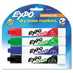 Scents Dry Erase Markers Chisel Tip Assorted Colors Pack of 4 (SAN83514)