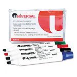 Dry Erase Markers Chisel Tip Assorted Set of 4 (UNV43650)