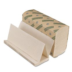 "Green Folded Towels Multi-Fold Natural White 9-18"" x 9-12"" 200Pack Carton of 20 (BWK10GREEN)"