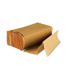 Multifold Paper TowelsNatural Brown 250 TowelsPack 16 PacksCarton (BWK6202)