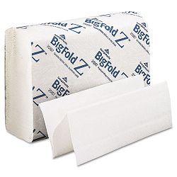 "Big Fold Z Paper Towels 10-15"" x 10-45"" White 220Pack Carton of 10 (GEP20887)"