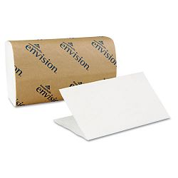 "Envision 1-Fold Paper Towel 10-14"" x 9-14"" White 250Pack Carton of 16 (GEP20904)"