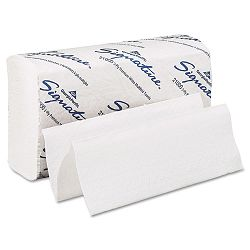 "Signature Paper Towel 9-14"" x 9 12"" White 125Pack Carton of 16 (GEP21000)"