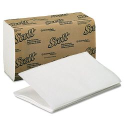 "SCOTT 1-Fold Paper Towels 9 310"" x 10 12"" White 250Pack Carton of 16 (KIM01700)"