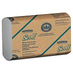 "SCOTT Multifold Paper Towels 9 15"" x 9 25"" White 250Pack Carton of 16 (KIM01840)"