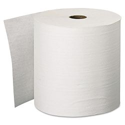 "KLEENEX Hard Roll Towels 8"" x 600' White Carton of 6 (KIM11090)"