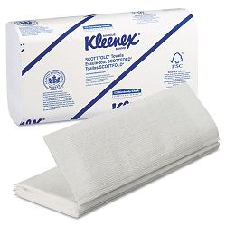 "KLEENEX SCOTTFOLD Paper Towels 9 25"" x 12 25"" White 120Pack Carton of 25 (KIM13254)"
