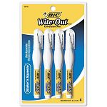 Wite-Out Shake 'n Squeeze Correction Pen 8 ml White Pack of 4 (BICWOSQPP418)