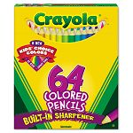Colored Woodcase Pencil HB 3.3 mm Assorted Pack of 64 (CYO683364)