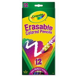 Erasable Colored Woodcase Pencils 3.3 mm 12 Assorted ColorsSet (CYO684412)