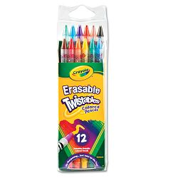 Twistables Erasable Colored Pencils 12 Assorted ColorsPack (CYO687508)