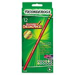 Ticonderoga Erasable Colored Pencil 2.6 mm 12 Assorted ColorsSet (DIX11129)