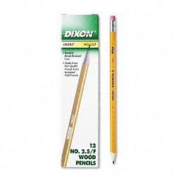 Oriole Woodcase Pencil F #2.5 Yellow Barrel Pack of 12 (DIX12875)