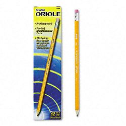 Oriole Woodcase Pre-Sharpened Pencil HB #2 Yellow Barrel Pack of 12 (DIX12886)
