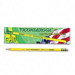 Woodcase Pencil F #2.5 Yellow Barrel Pack of 12 (DIX13885)