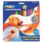 Colored Woodcase Pencils 3.3 mm 50 Assorted ColorsSet (DIX22480)