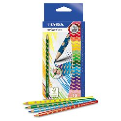 Groove Slim Colored Pencils Assorted Pack of 12 (DIX2821120)
