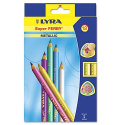 Super Ferby Woodcase Pencil Assorted Colors 6.25 mm Pack of 12 (DIX3721122)